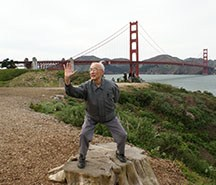 Dr. Dave Liu's great grandfather practicing Tai Chi at the Presidio in San Francisco.
